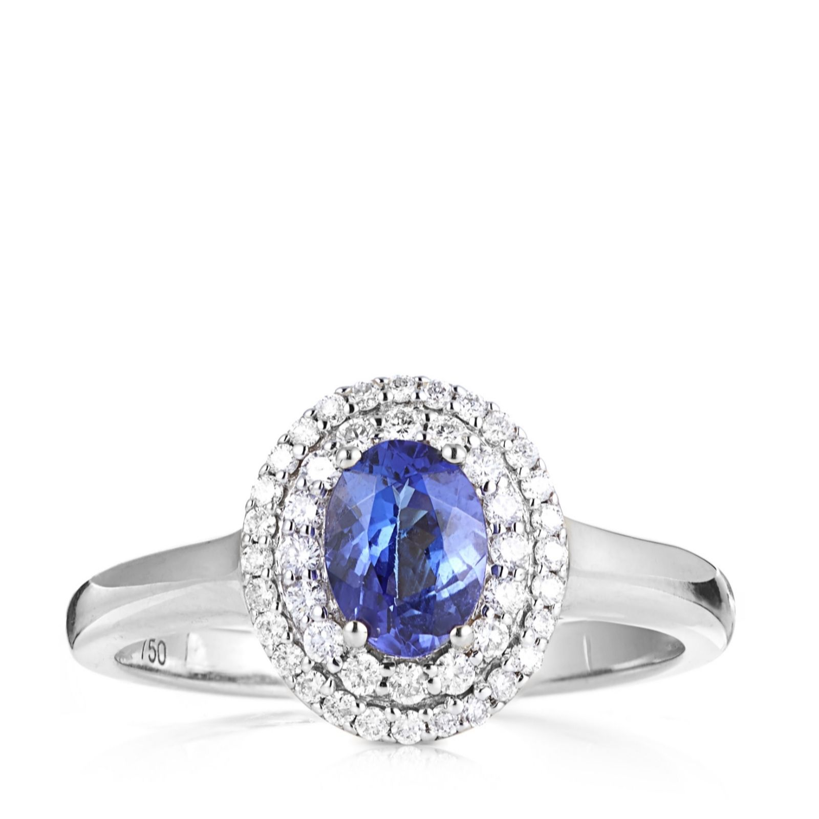 white precious tanzanite cut rings emerald ring engagement amp image gold jewellery diamond cluster