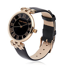 Anne Klein Claire Leather Strap Watch