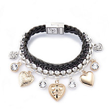 Bibi Bijoux Leather & Charm Bracelet