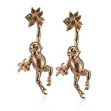 Bill Skinner Hanging Monkey Earrings