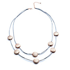 Frank Usher Multi Way Wrap Metal Disc Necklace