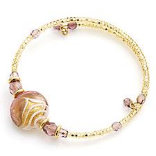Murano Glass Bead Wrap 17cm Bracelet