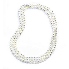 Frank Usher Endless Simulated Pearl & Crystal 220cm Necklace
