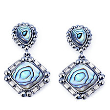 Butler & Wilson Crystal Square Drop Earrings