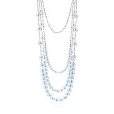 Butler & Wilson Four Row Bead 47cm Necklace
