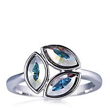 Aurora Swarovski Crystal Cluster Cocktail Ring