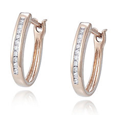 0.1ct Classic Diamond Huggie Earrings 9ct Gold