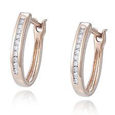 308984 - 0.1ct Classic Diamond Huggie Earrings 9ct Gold