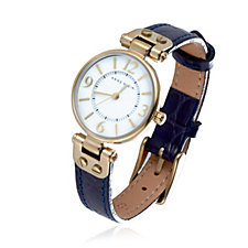 Anne Klein Manhattan Leather Strap Watch