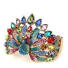 Butler & Wilson Crystal Peacock Bracelet