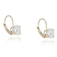 Diamonique 2ct tw Leverback Earrings 14ct Gold