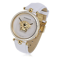 Versace Palazzo Empire Butterfly Buckle Leather Strap Watch