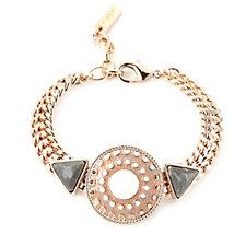 Pilgrim Crystal & Enamel Tribal Design Bracelet