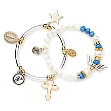 Bibi Bijoux Set of 2 Charm Bracelets
