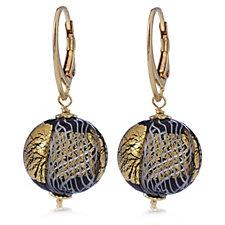 306485 - Murano Glass Romantico Orb Drop Earrings Sterling Silver