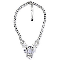 Loverocks Crystal Floral Statement 50cm Necklace
