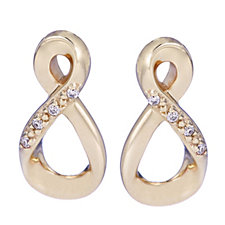 Clogau 9ct Yellow & Rose Gold Eternity Diamond Earrings