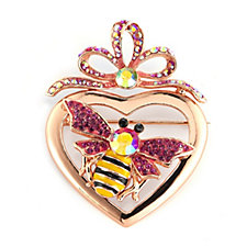 Butler & Wilson Crystal Bee in Heart Brooch