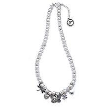 Bibi Bijoux Butterfly Ball Charm 48cm Necklace