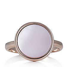 Bronzo Italia Pink Mother of Pearl Disc Ring