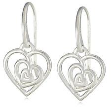 Links of London Trinity Heart Drop Earrings Sterling Silver