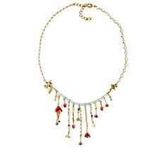 Bill Skinner Floral Drop Statement 40cm Necklace with Extender