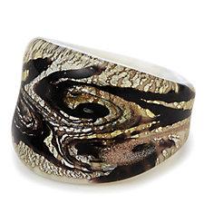 Murano Glass Vortice Ring