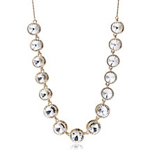 Loverocks Crystal Station Extendable Slider 86cm Necklace
