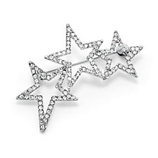 Loverocks Pave Crystal Star Brooch