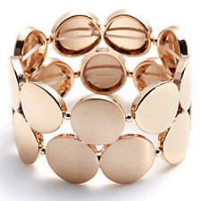 Pilgrim Circle Statement Stretch Cuff Bracelet