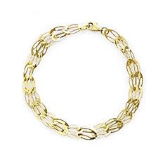9ct Gold Openwork Link 18cm Bracelet