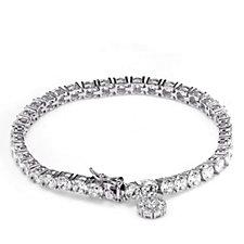 Michelle Mone for Diamonique 13ct tw Charm Tennis Bracelet Sterling Silver