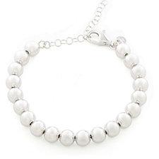 Bianca Platinum Plated 8mm Beads 18cm Bracelet Sterling Silver