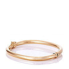 Bronzo Italia Oval Hinged Bangle
