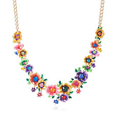 331287 - Butler & Wilson Dainty Flowers 42cm Necklace