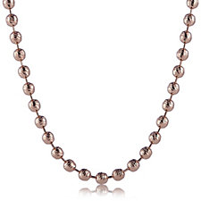 Bronzo Italia Diamond Cut Beaded Necklace