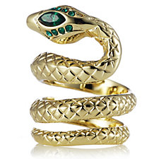 JM by Julien Macdonald Safari Collection Snake Wrap Ring