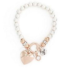 Bibi Bijoux Multi Heart Charm Ball Bead Stretch Bracelet