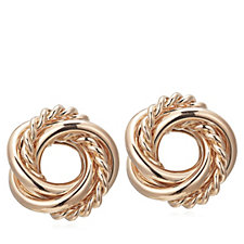 Frank Usher Interlocking Knot Clip Earrings