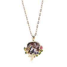 Bill Skinner Scenes of Nature Pendant Crystal 43cm Necklace