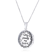 Extraordinary Life Oval Locket & 50cm Chain Sterling Silver