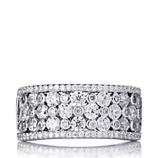 Michelle Mone for Diamonique 7ct tw Statement Band Ring Sterling Silver