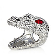 Butler & Wilson Crystal Crocodile Ring