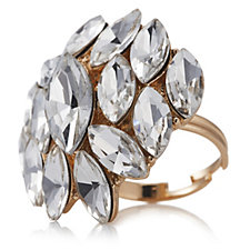 loveRocks Marquise Crystal Cluster Ring