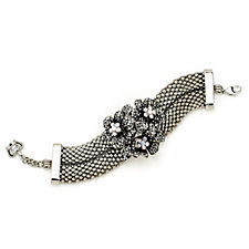 Butler & Wilson Crystal Flowers in Basket Bracelet