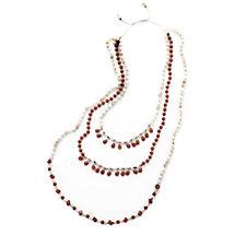 Lola Rose Fierce Elegance 3 Strand Semi Precious 48cm Necklace