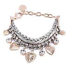 Bibi Bijoux Crystal & Leather Bracelet