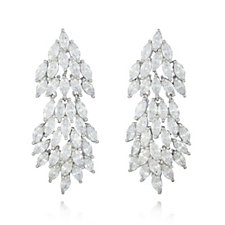 Diamonique by Tova 10.5ct tw Marquise Earrings Sterling Silver