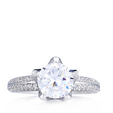 Michelle Mone for Diamonique 2.6ct tw Solitaire Ring Sterling Silver