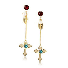 Bibi Bijoux Cross & Crystal Earrings
